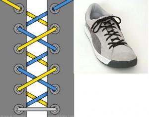 20种令人吃惊的个性系鞋带法
