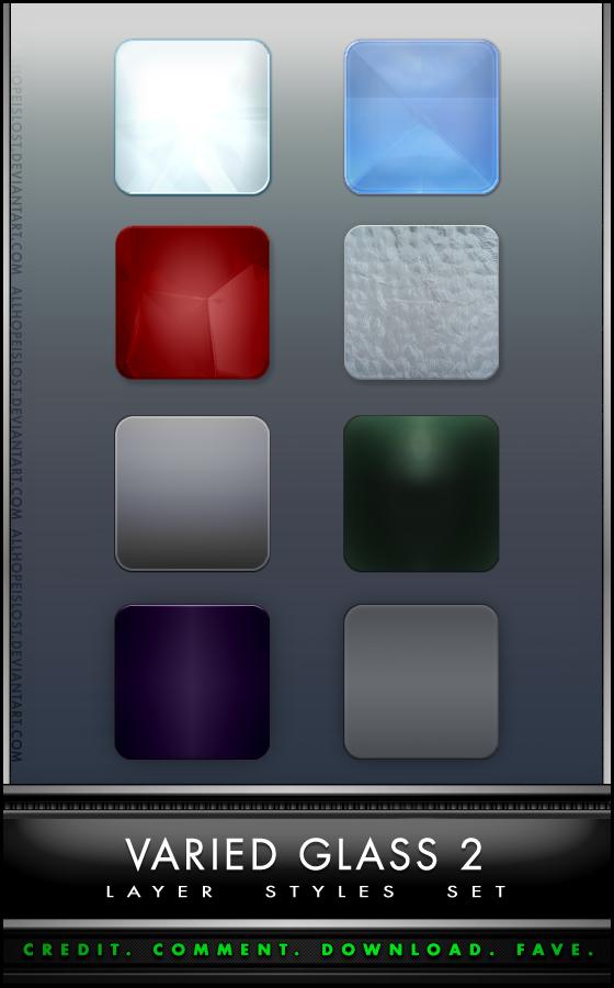 PS玻璃质感样式风格 Varied Glass Style