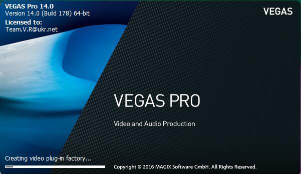 实用的视频编辑软件Sony Vegas pro 14 中文破解版